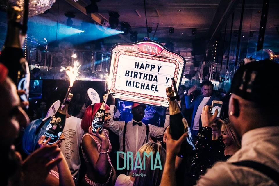 birthday bash at drama nightclub london