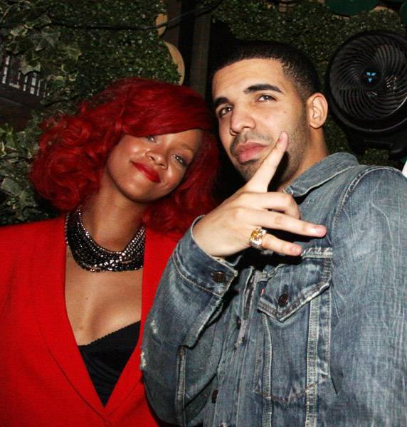 rihanna with drake as a VIP Guest at cirque le soir
