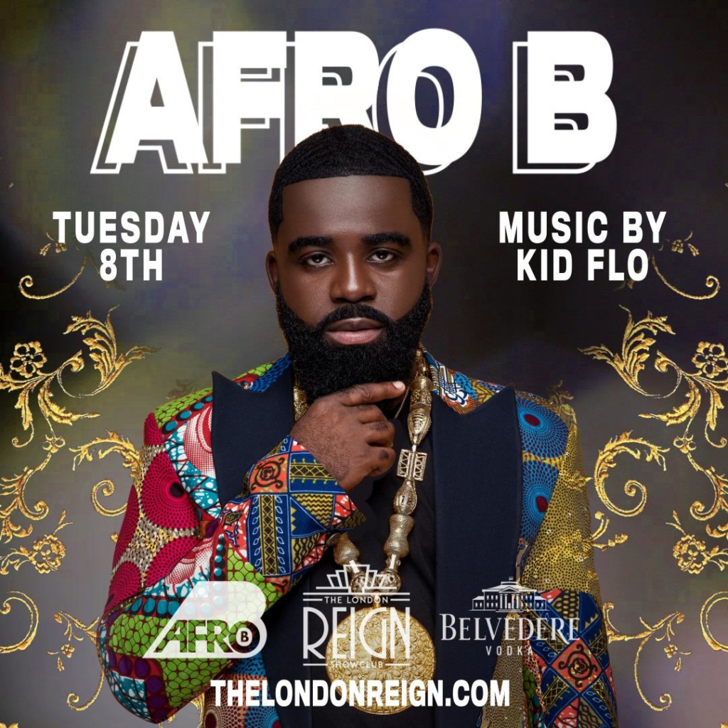 afro b at reign showclub