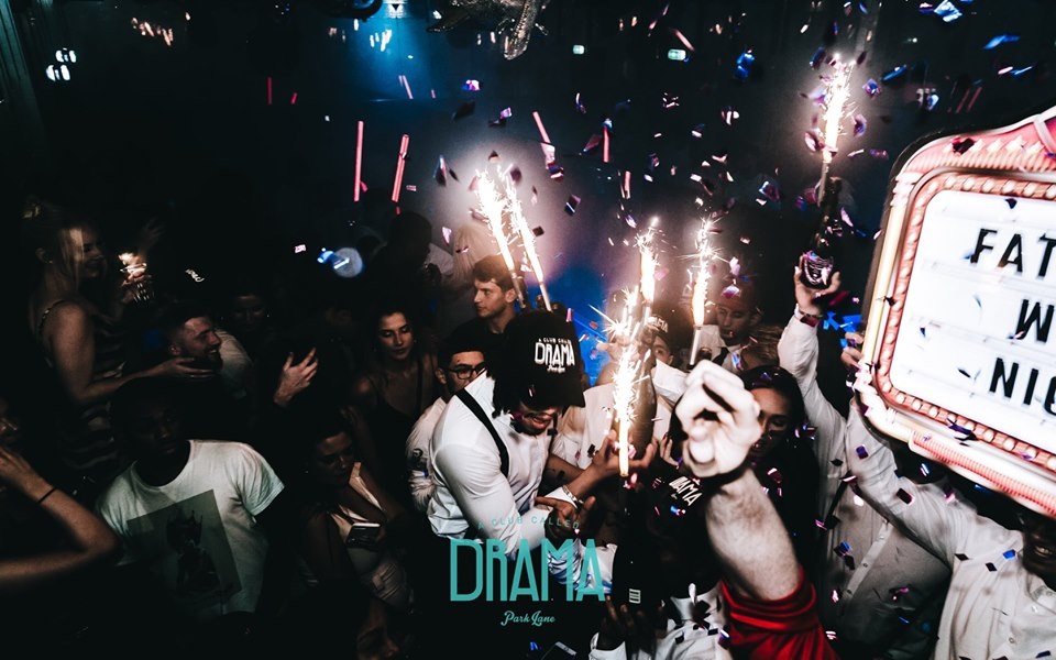 new year's eve vip table booking at Drama