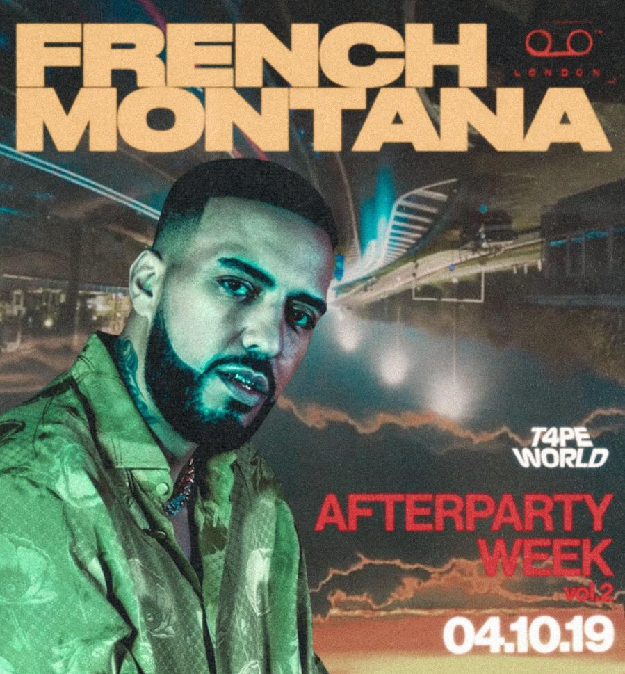 french montana at tape london