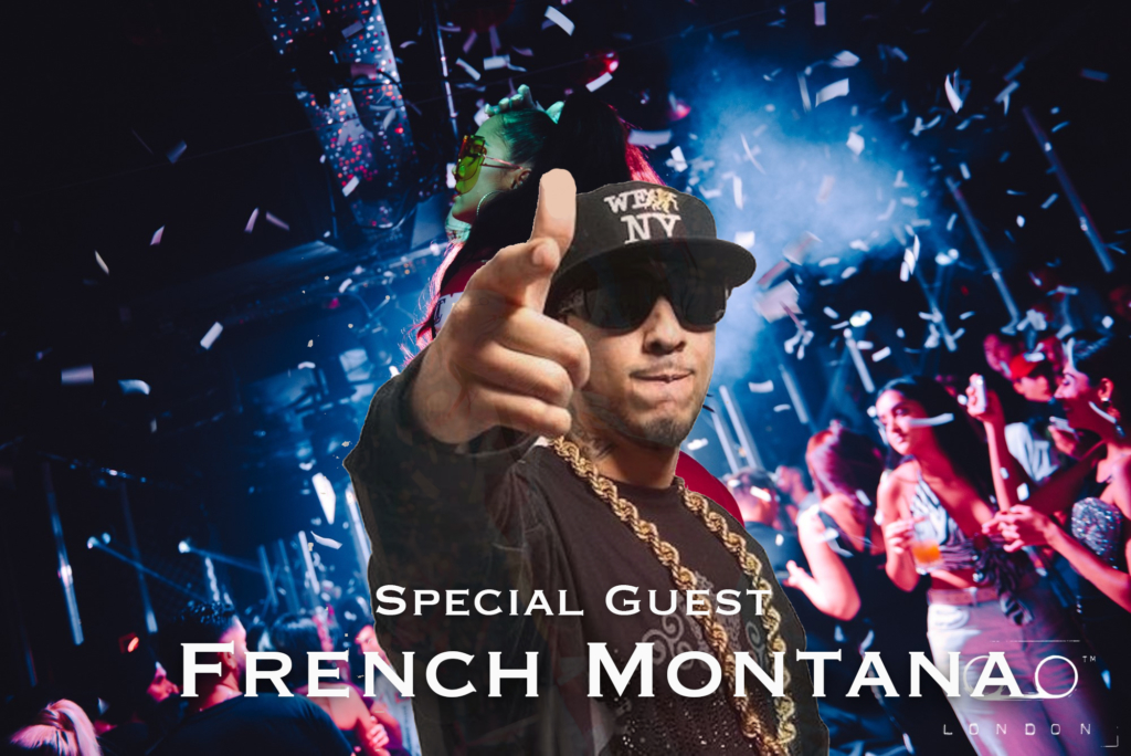 french montana at tape london for performance