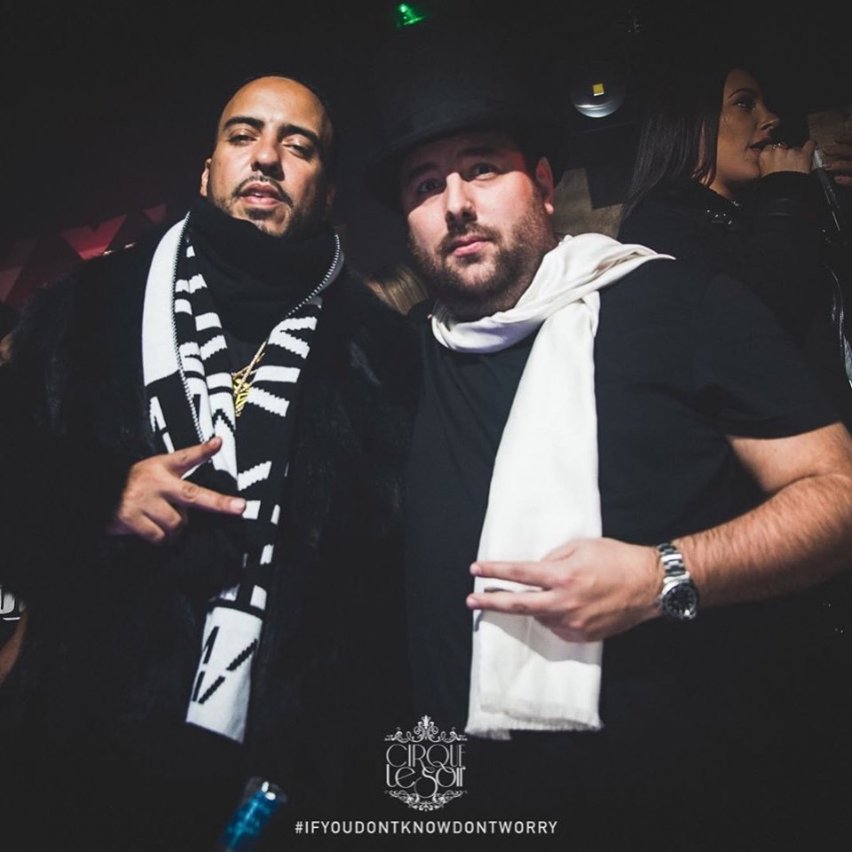 Tom Eulenberg and French Montana at cirque