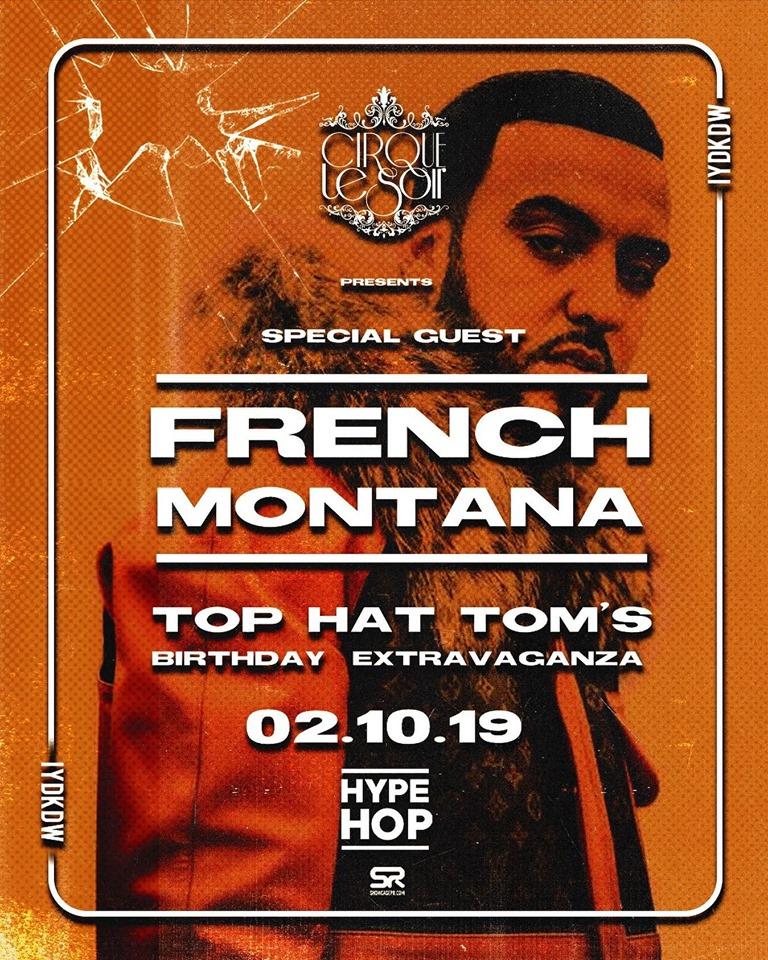 French montana at cirque le soir