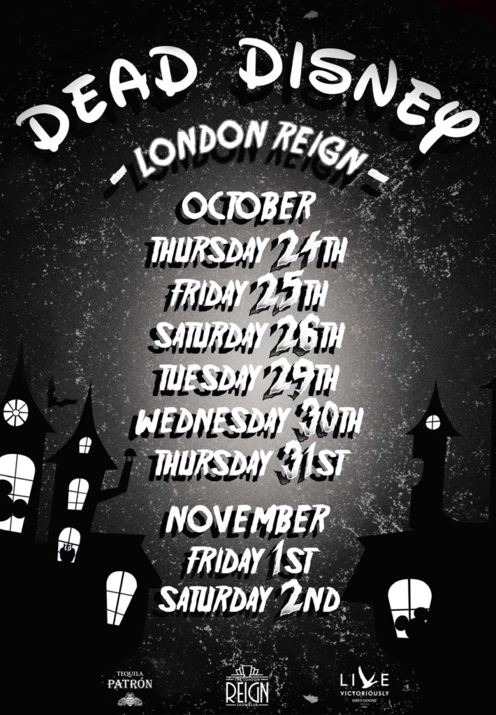 halloween reign table booking days