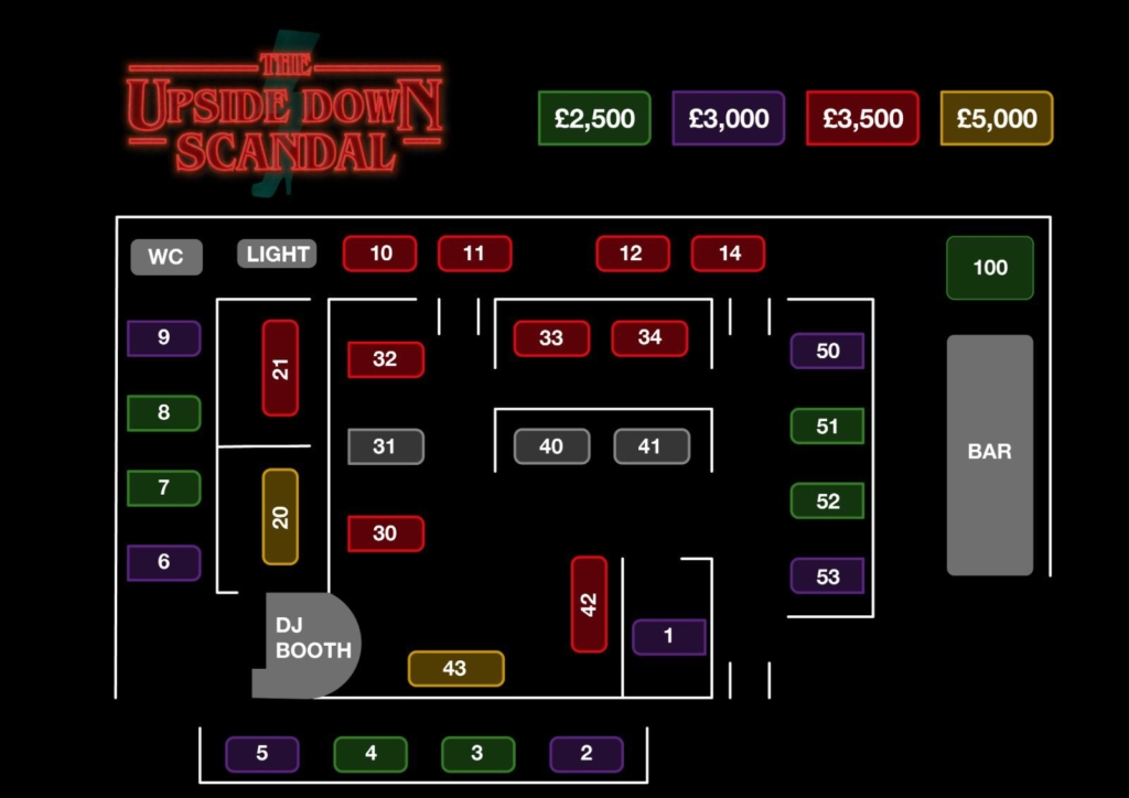 scandal halloween booking