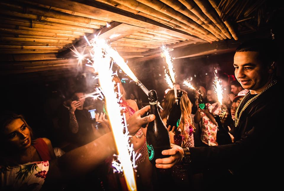 new year party at Mahiki London