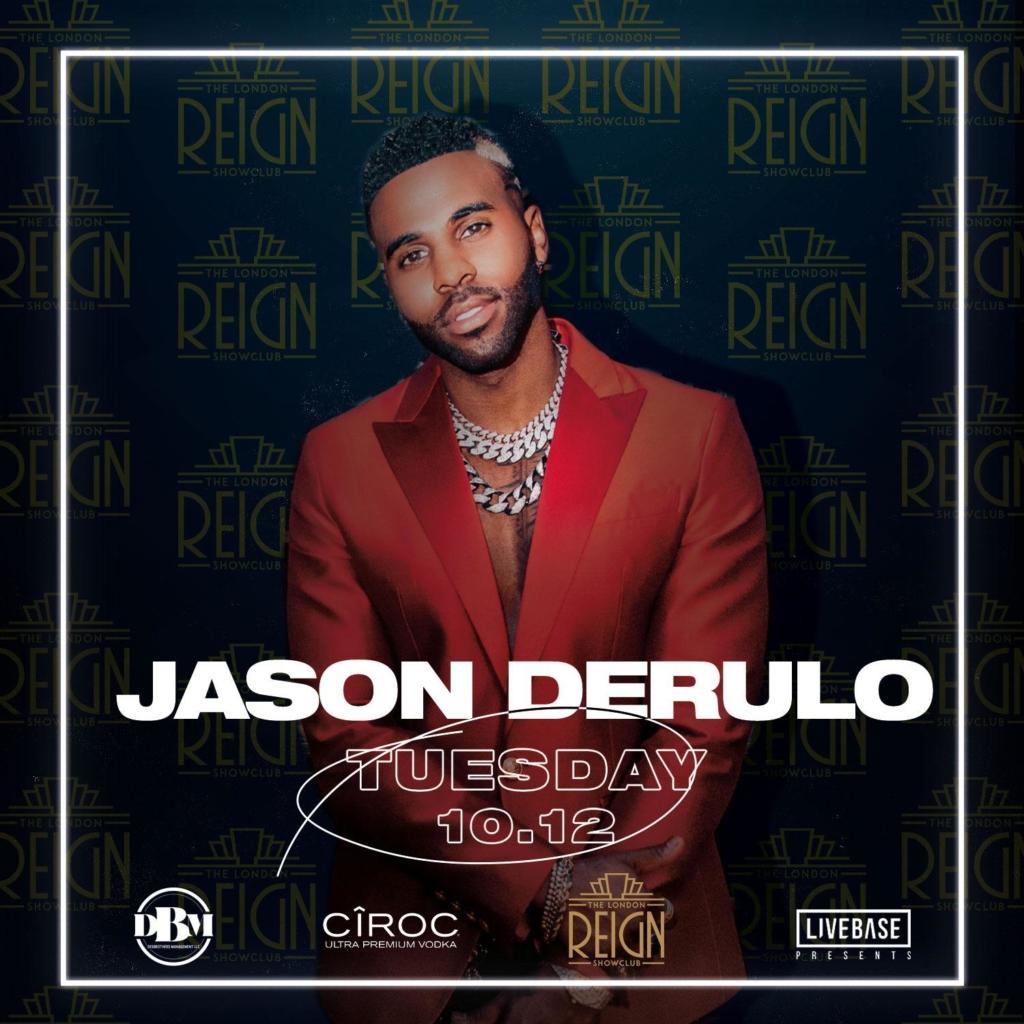 Jason Derulo at reign showclub for performance