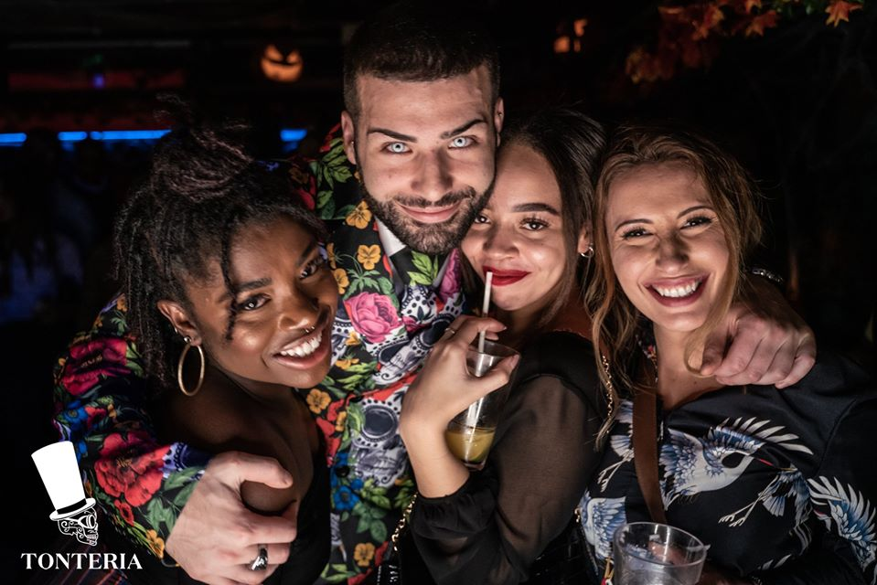 friends are on table booking at tonteria london